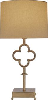 QUATREFOIL TABLE LAMP.  circa lighting.  they have this in aged white finish and could look nice on buffet in DR