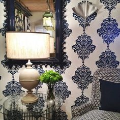 Blue & White Layered Patterns at Thibaut — High Point Spring Market 2013