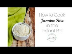 Instant Pot jasmine rice is my super simple, no fail method for making perfect jasmine rice every time. Excellent texture, and a super simple method!