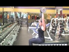 Kansas City Personal Trainer Diana Chaloux Overhead Dumbbell Press