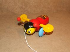 Genuine Buzzy Bee Wooden Pull Along Toy