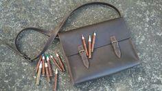 120$ Stylish leather bag Handmade Size 39×26×9
