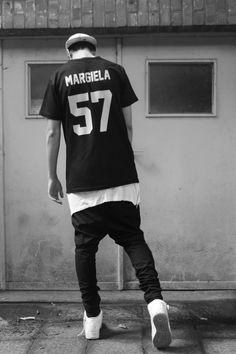 OOTD Les Artists Margiela Mesh Tee Adyn White Zip Tee I Love Ugly Harem Pants Nike Air Force