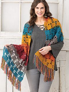 Easy Breezy Shawl pattern by Kathleen Berlew. Crochet wrap or shawl. 10 ply Easy Breezy Shawl pattern by Kathleen Crochet World, Crochet Fall, Knit Crochet, Ravelry Crochet, Filet Crochet, Double Crochet, Crochet Shawls And Wraps, Crochet Scarves, Crochet Clothes