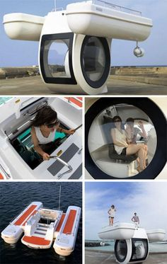 amazing boat.....what do you say?? Innovation, Future Gadgets, Tricycle Bike, Cool Boats, Underwater Creatures, Boat Stuff, Water Toys, Futuristic Technology, Boat Building