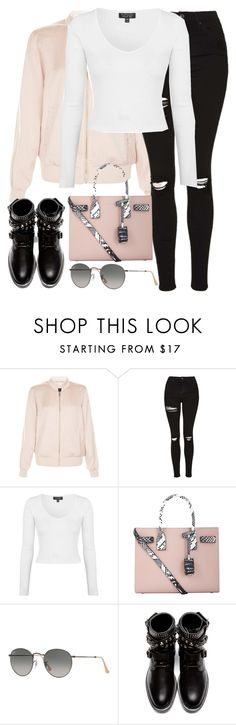 """Untitled #2746"" by elenaday on Polyvore featuring New Look, Topshop, Yves Saint Laurent and Ray-Ban"