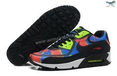 check out 4b199 c06ea Nike Air Max 90 2013 Differentiation Black Green Orange Mens Shoes Nike Air  Flight, Air