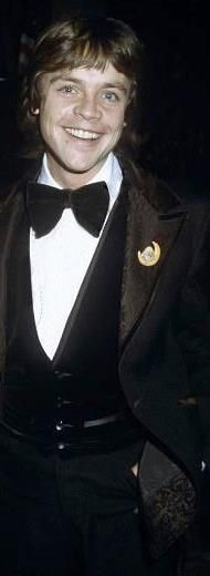 Mark Hamill in a beautiful tuxedo! And he is having a great hair day, like usual