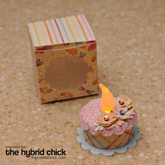 Full instructions to make a Tea cake Light,with a box