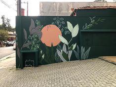 Graffiti Wall Art, Murals Street Art, Mural Wall Art, Kids Room Murals, Bedroom Murals, Mur Diy, Garden Mural, School Murals, Wall Drawing