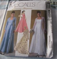 Bridal or Evening Elegance Pattern 4450 Misses by stephaniesyarn, $8.49