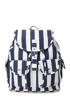 Cool Girl Striped Backpack | FOREVER21 - 1000089739