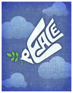 Peace Dove 11x14 Print Poster by HappyLittleGarden on Etsy, $18.00