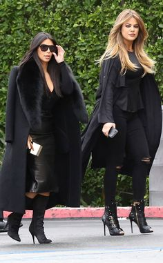 The always-stylish Kim Kardashian topped off her seriously chic fur-adorned jacket with angular flat-top sunnies!