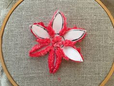 Plushwork with cotton floss, a tutorial by Michelle for Mooshiestitch Monday on Feeling Stitchy