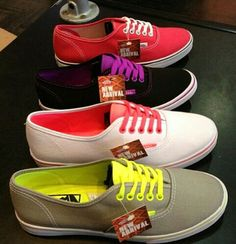 Vans shoes: I wan' 'em all