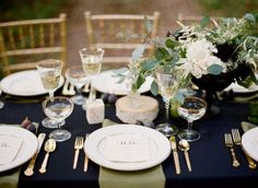 wedding table white linen with green napkins - Google Search