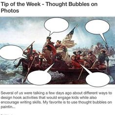 Washington Crossing the Delaware thought Bubble worksheet.