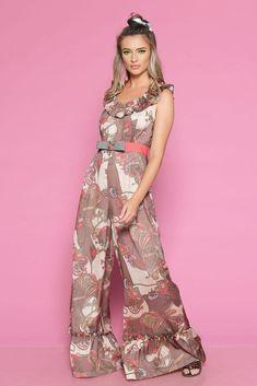 Salopeta VIRA B - Mathilde Floral, Summer, Pants, Dresses, Fashion, Trouser Pants, Vestidos, Moda, Summer Time