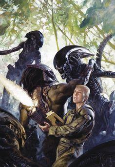 "redskullspage: ""Aliens vs. Predator Life and Death #3 """
