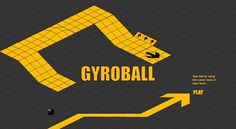 Marble madness arcade classic game. Get the marble into the hole without going off the side of the map. Also known as gyroball.