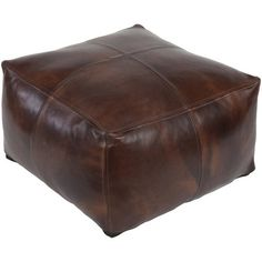 Authentic Moroccan hand-made leather hassock commonly known as Poof is made out of genuine soft leather. The poof is so practical it can be used as a footstool, as a low seat next to your coffee table or in your children room. This pouf comes with a Zippered bottom opening for easy stuffing.