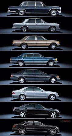 S-Class through the years