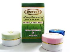 Seaweed Cream-EXTRA WHITENING & FACE LIFT by havagotji store. $15.00. Acne treatment cream that has been most effective in girls of all ages with beauty. Help relieve acne, freckles and dark spots, and also possible to high-performance cream to white skin is a dark spot and can see the change within two weeks.  The first set consists of.  1. Cream for daytime. + Pink ink, green algae and organic product contains natural hormones. Many herbal extracts are combined with enzym...