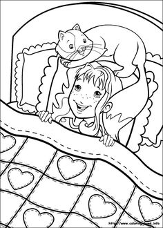 Holly Hobbie coloring picture