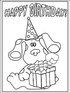blues clues birthday coloring httpcoloringpagesabccom coloring pages for kids