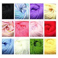 J35 grátis frete 3 novelos / lote 50 g fibra de leite algodão de seda do bebê aquecido Knitting Yarn Hot