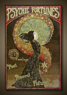 art nouveau gypsy fortune- beautiful art