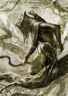Concept art for The Hobbit by Nick Keller