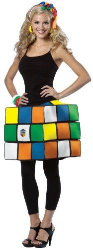This Adorable Womens Rubiks Cube Costume Features A Moveable For Hours Of Fancy Dress Fun From Our Funny Costumes Range