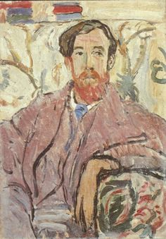Lytton Strachey portrait by Vanessa Bell, sister of Virginia Woolf. I just finished Michael Holyrod's way-too-long and way-too-heavy Vanessa Bell, Virginia Woolf, Dora Carrington, Duncan Grant, Clive Bell, Leonard Woolf, Bell Art, Bloomsbury Group, Post Impressionism