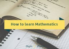 Five habits to learn maths effectively