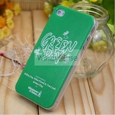 $14.99-Whatever it takes WIT iPhone 4 case - Green Day
