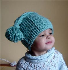 THIS IS A PDF Instant Download Easy Crochet PATTERN ONLY AND NOT A FINISHED ITEM.    This hat is cute, warm and cozy, it can be done in many colors. Great for props and everyday use, for all ages from baby to adult. This hat will make a great gift.    The pattern comes in 4 sizes:  0-6