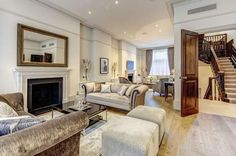 Wedgewood Estates - Kensington present this 10 bedroom house in Hertford Street, Mayfair, London, Townhouse, Property For Sale, Couch, London, Bedroom, Street, Furniture, Home Decor, Terraced House