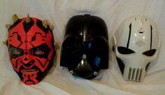 Lot 3 Star Wars Talking Electronic Masks General Grievous Darth Vader Darth Maul