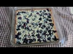 Blueberry Shortbread Bars - Easy Summer Fruit Shortbread Cookie Bars --of course i would sub with non-dairy and either eliminate the egg or use a substitute.
