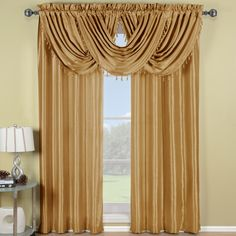 Gold Soho Waterfall Window Treatment