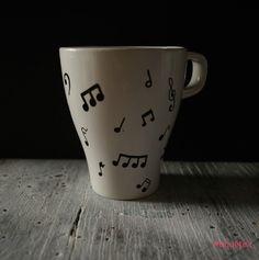 Tazas personalizadas. Notas musicales