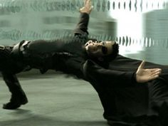 Keanu Reeves as Neo in The Matrix - 1999  The famous scene that everyone wanted to do, and ended up with a strained back...mind blown...