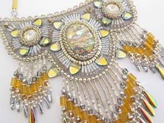 SALE King Tut's Treasure Bib Necklace by jenum24 on Etsy, $350.00