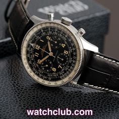 Breitling Navitimer - Very Rare FIRST SERIES Valjoux 72 REF: Pre- 806 | Year 1954  Rare and important pilot's watch from 1954; this vintage first series ('Pre-806'), with all-black sub-dials, is from 1954, the first year that this iconic watch was produced. The condition is superb, completely original, un-refinished; we wouldn't dare polish the few gossamer lines that arose while the watch sat restfully these past 60 years! Most unusually, these early examples are driven by a Valjoux…