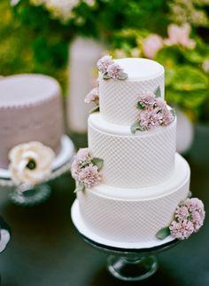 Textured white wedding cake #cake #wedding