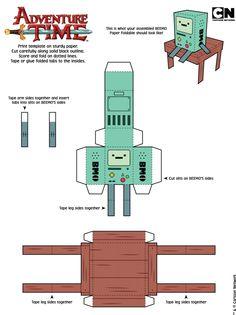 5 Papercraft Adventure Time D