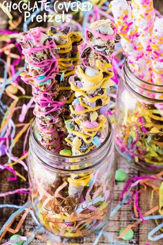Spring Chocolate Covered Pretzels | Deliciously Sprinkled