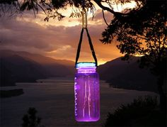 Solar Powered Nalgene lamp lid